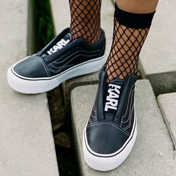 Karl X Platform Poshmark Laceless Lagerfeld Shoes Vans Skool Old qEPARR